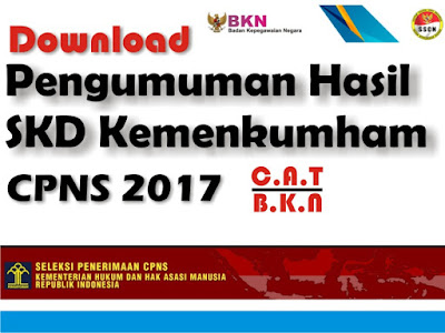 Pengumuman Hasil Tes SKD Kemenkumham CPNS  Pengumuman Hasil Tes SKD Kemenkumham CPNS 2017