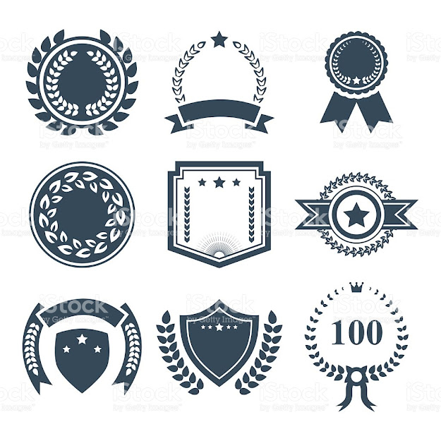 Award Badges Vector Icon Setvector Symbols Vector Illustration  Royaltyfree Stock Vector