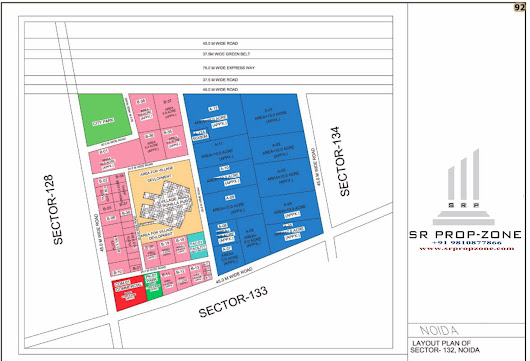 Layout Plan of Noida Sector-132 HD Map