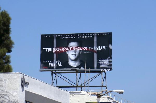 American Vandal season 1 Emmy FYC billboard