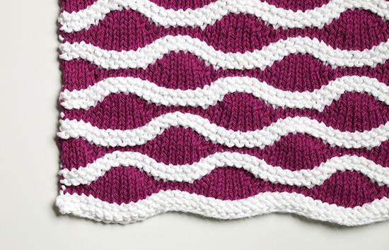 Knit Lizard Ridge Cotton Dishcloth or Washcloth