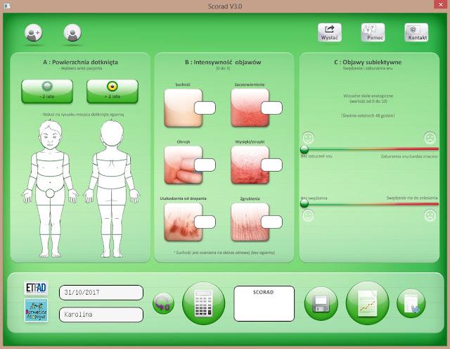SCORAD - aplikacja do oceny atopowego zapalenia skóry