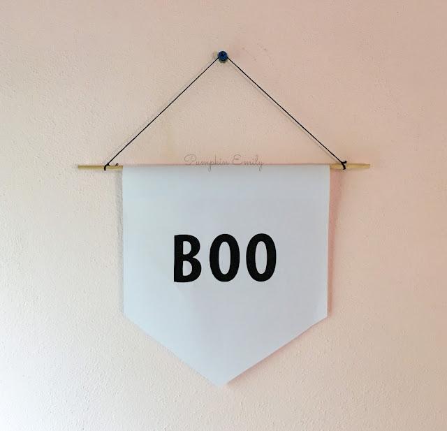 DIY Boo Wall Banner