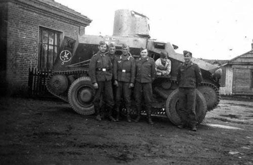 Средний разведывательный колёсно-гусеничный бронеавтомобиль Sd.Kfz. 254 с установленной башней