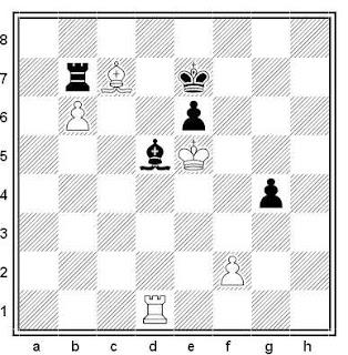 Posición de la partida de ajedrez Vologan - Velikov (URSS, 1991)