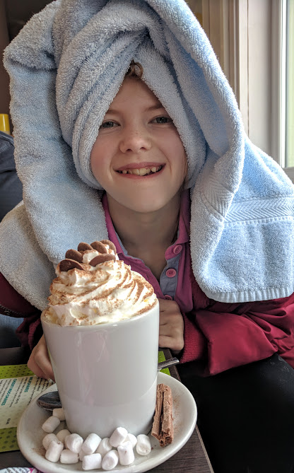 The Sands Resort Cornwall Review | A Family Hotel with Kids Club near Newquay  - hot chocolates after swimming