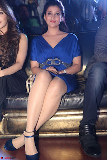Mannara Chopra in Short Blue Dress at Rogue Movie Teaser Launch 1st March 2017 020.JPG