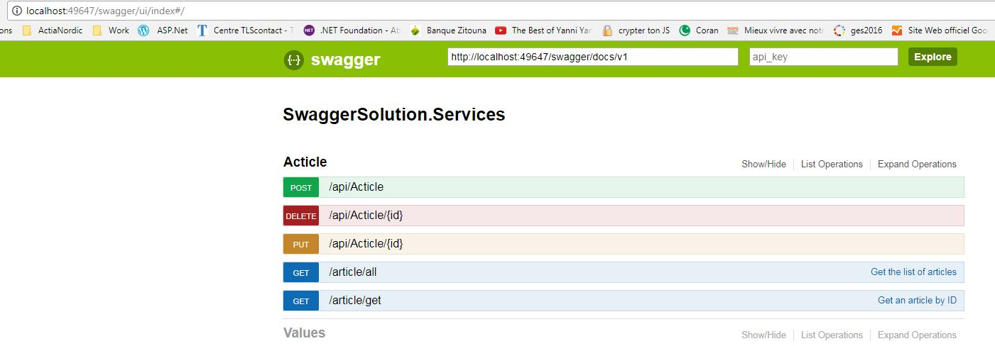 Swagger Integration In Asp Web Api Project Codeproject