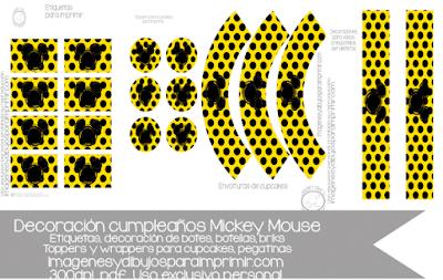 decoraciones de mickey mouse para cumpleaños