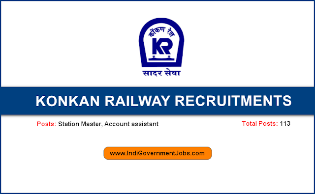 KRCL recruitment 2018 Station Master, Account assistant posts