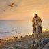 JESÚS CAMINANDO EN LA ARENA