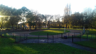 Cycle Speedway track at St Thomas' Recreation Ground in Stockport