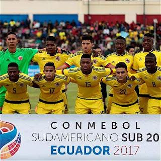 Colombia enfrenta a  Argentina en Sudamericano Sub 20 Ecuador 2017