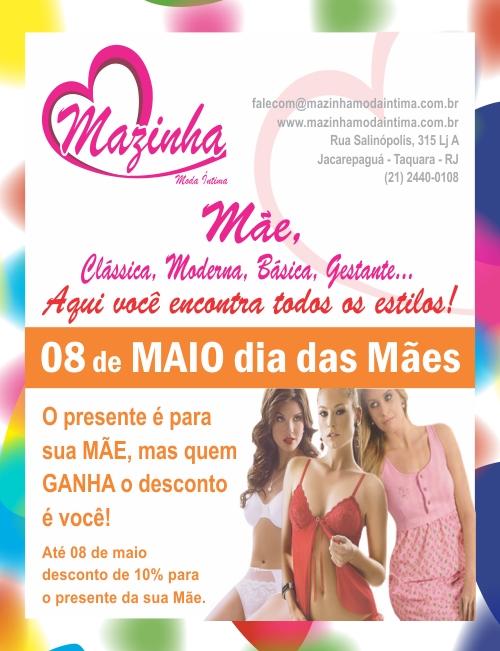 d5fd8293d Mazinha Moda Íntima  Maio 2011