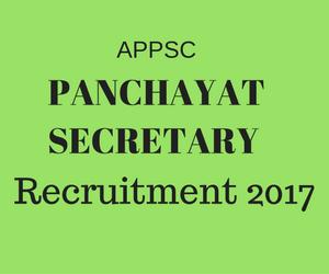 APPSC_Panchayat_Secretary_online_Application