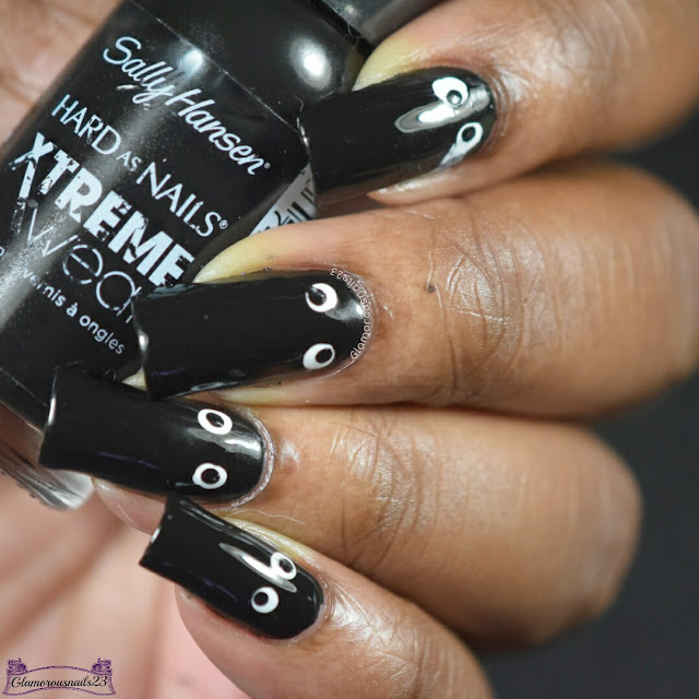 Challenge Your Nail Art Day 1 - Black
