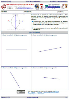 División de un segmento en partes iguales