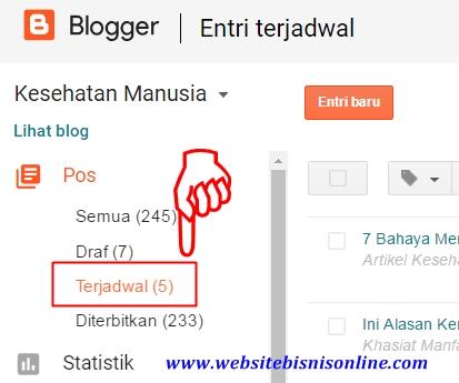 Contoh Jadwal Posting Artikel Blog yang Berhasil Terjadwal