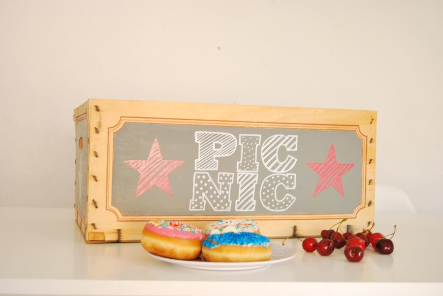 fruit box painted with chalk paint