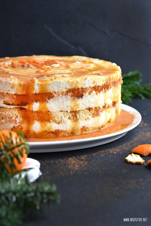 Herzfutter Food Blog Mandarinen Schmand Torte Mit Marzipan Und Zimt