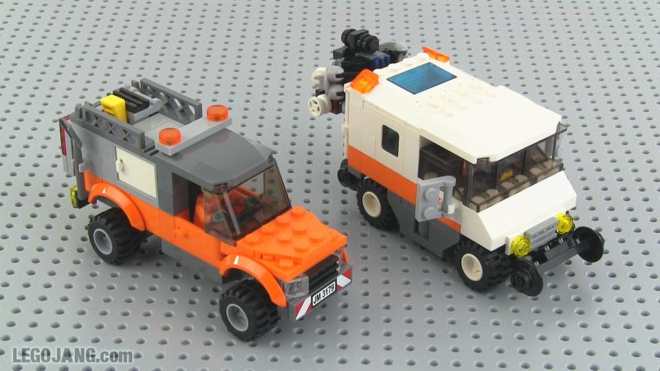 LEGO railroad maintenance truck, track geometry vehicle MOCs