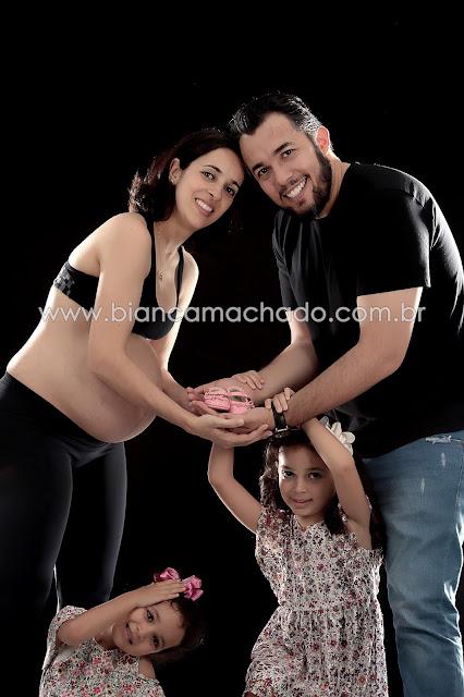 fotos gestante com a familia