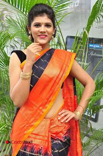 Model Sangeeta Kamath Pictures in Saree at Silk India Expo Curtain Raiser  0005.JPG