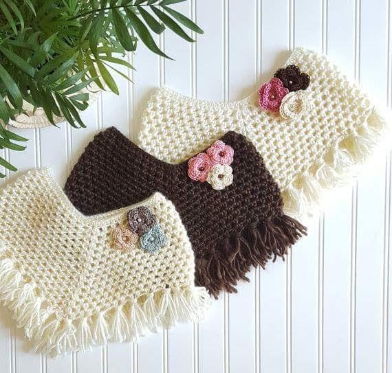 Ponchos em Crochê com Gráfico - Katia Ribeiro Crochê Moda e Decoração 851b95347e8
