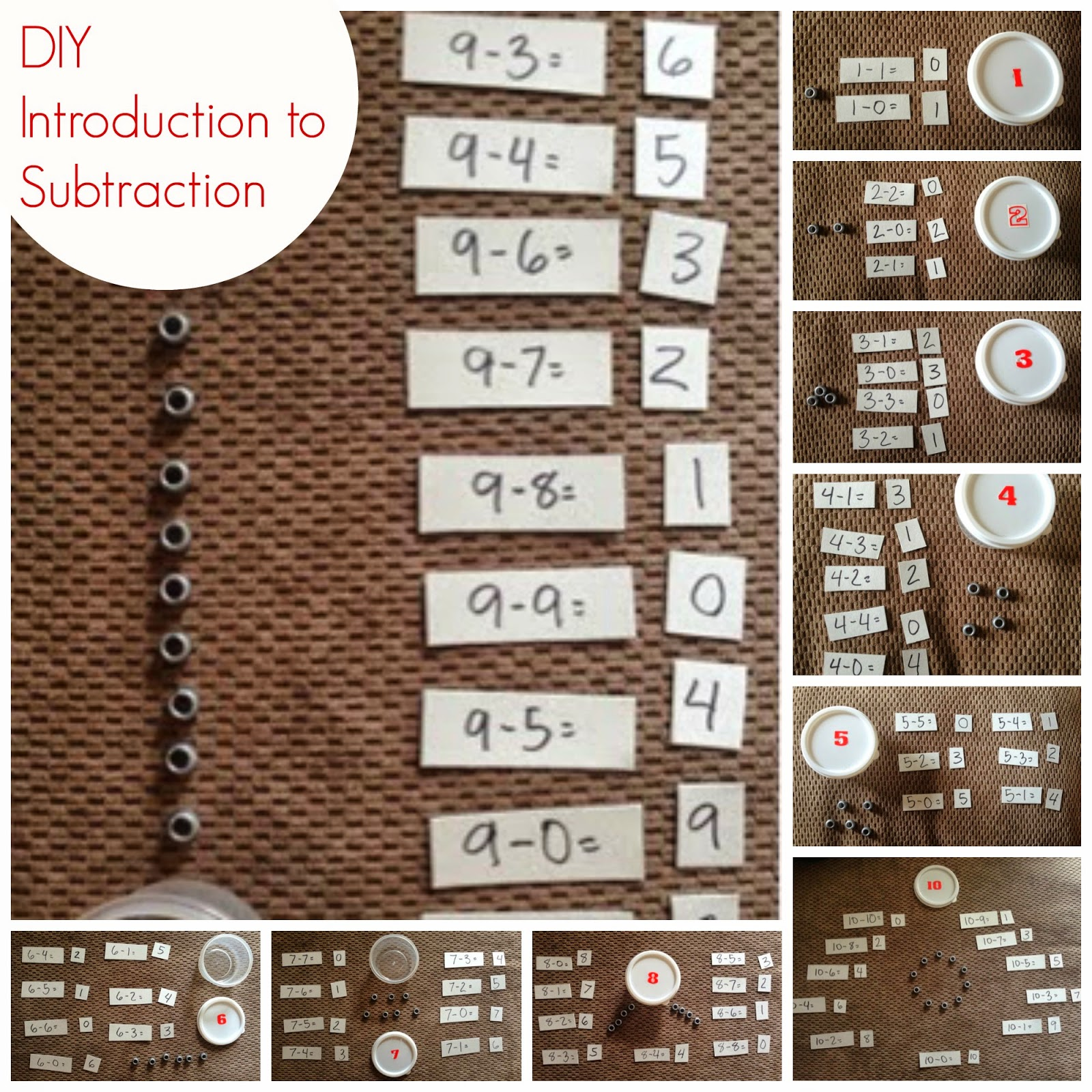 Introduction to DIY Beginner Montessori Subtraction