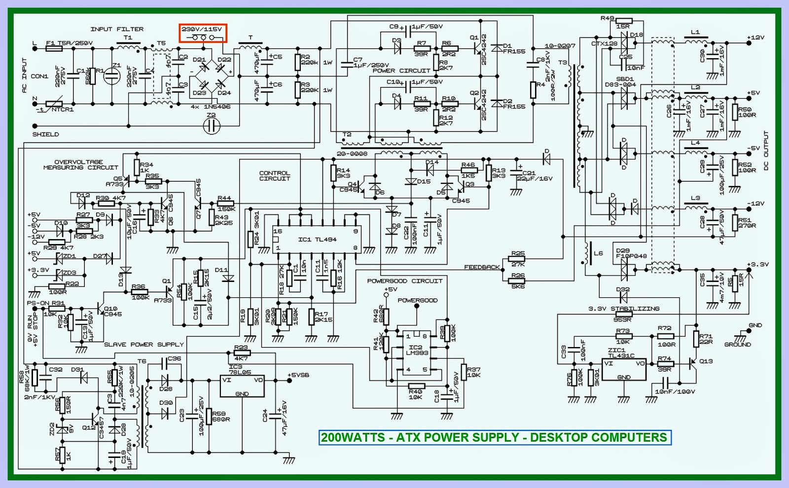 Desktop Computer Power Supply