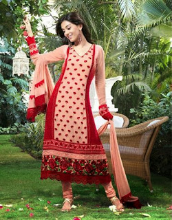 Amrita Rao's Red Designer Suit