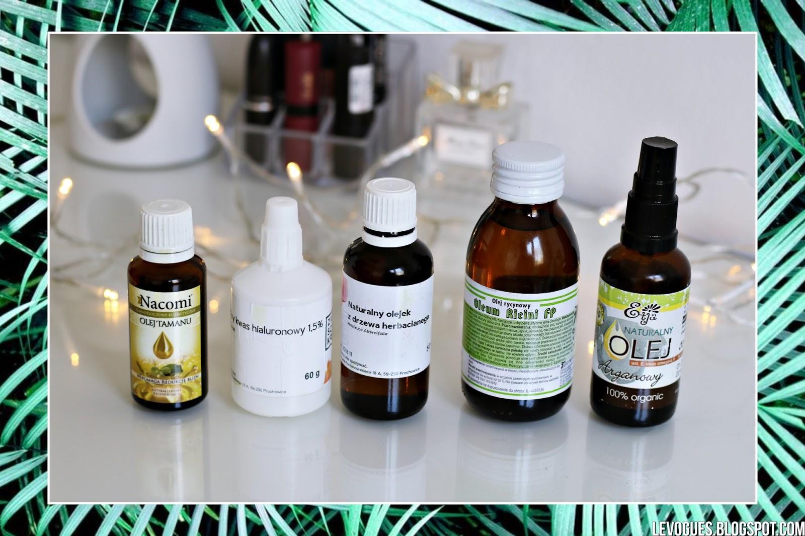 naturalne kosmetyki trądzik tłusta cera olejki olej tamanu rycynowy arganowy