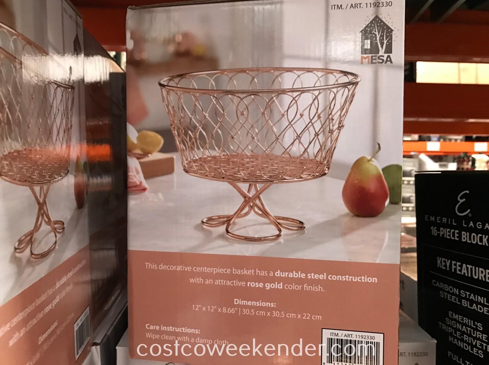 Costco 1192330 - Vanderbilt Loop Twist Pedestal Basket: a great addition to any kitchen counter