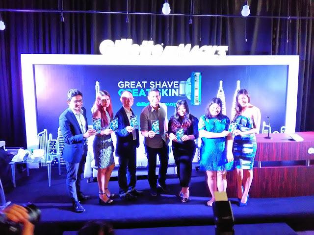 Fahrin Ahmad bersama pihak orang kuat Gillette Mach 3