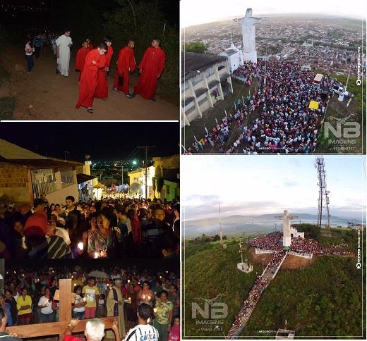 Momentos de fé marcaram o inicio das celebrações da Sexta-Feira da Paixão