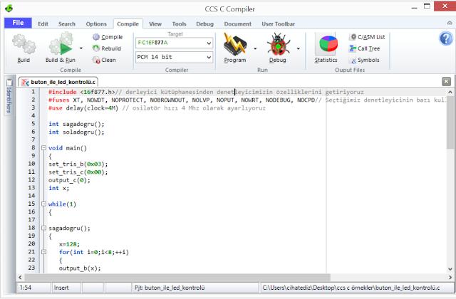 ccs c pic programlama
