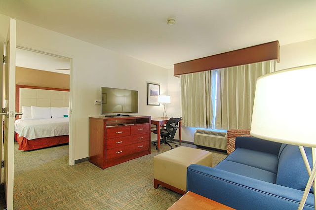 The Homewood Suites Las Vegas Airport hotel offers free shuttle service to McCarran Airport and the Strip. You'll love the complimentary full hot breakfast.