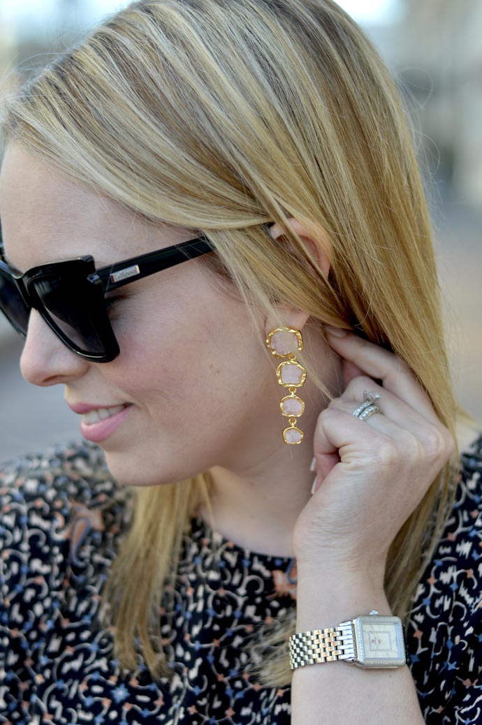blush stone earrings - A Blonde's Moment - @rachmccarthy7