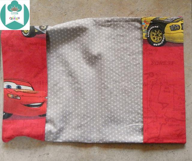 Coton et Création : protège carnet de santé cars