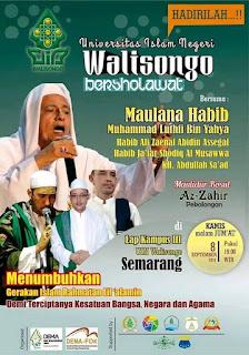 Jadwal Habib Luthfi bin Yahya UIN WALISONGO BERSHOLAWAT