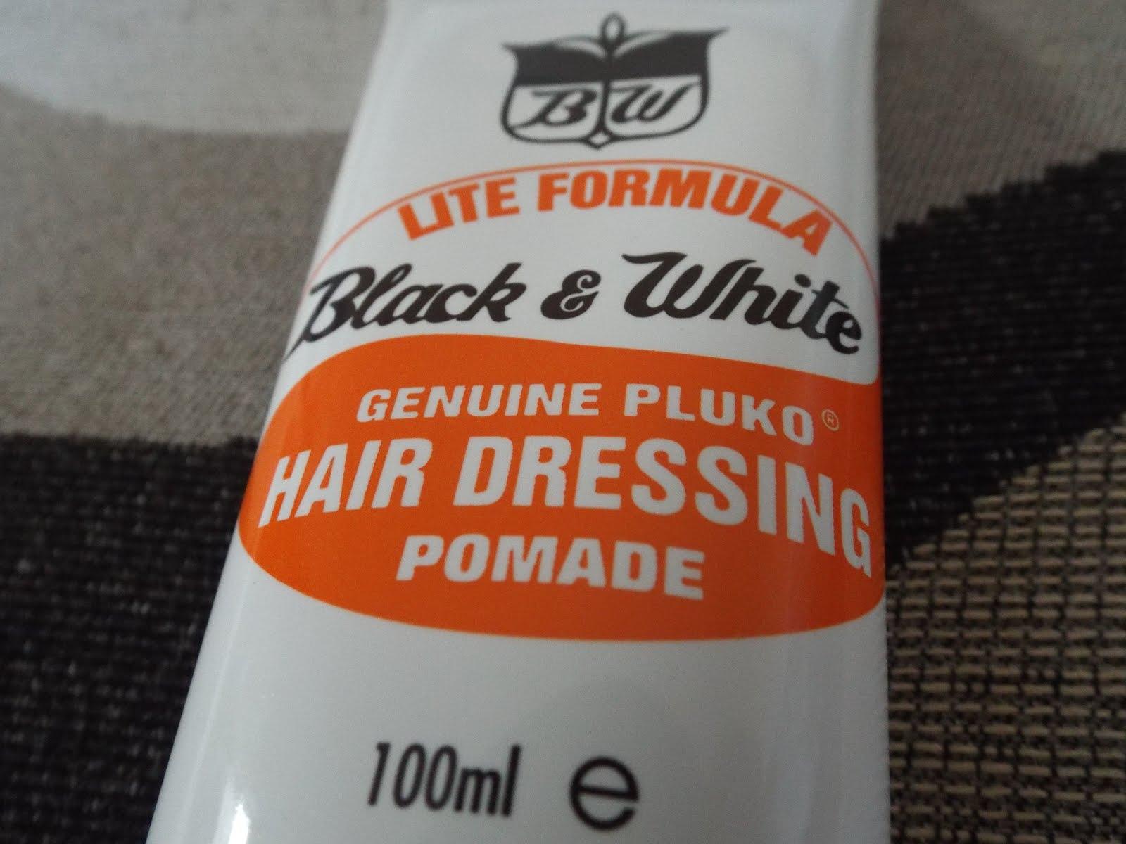 Black and White Genuine Pluko Hair Dressing Pomade