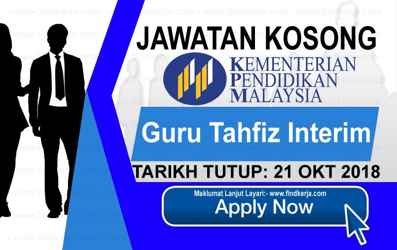 Jawatan Kerja Kosong MOE - Kementerian Pendidikan Malaysia logo www.ohjob.info www.findkerja.com oktober 2018