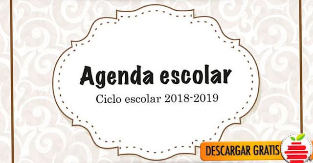 Agenda escolar 2018-2019 ¡Gratis!