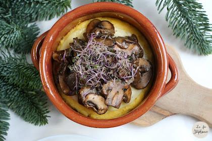 Polenta aux champignons, une recette pour se sentir en vacances à la montagne!