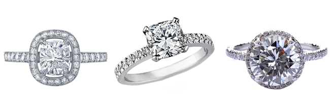 small and elegant diamond engagement rings