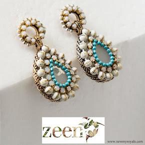Kate Middleton wore Zeen Beaded Chandelier earrings