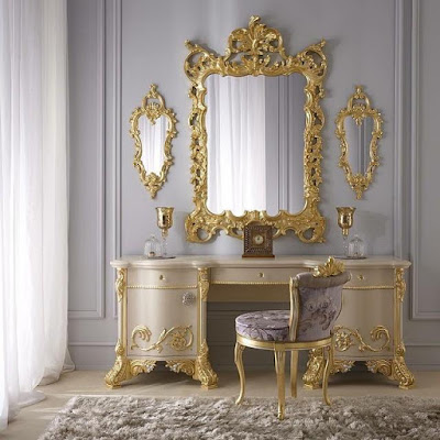 INDONESIA FURNITURE EXPORTER-CLASSIC GOLD DRESSING TABLE SET WITH MIRROR CARVING ROCOCO,Classic French Furniture,Aifurindo sell Classic Furniture and Antique reproduction Mahogany buy Classic French Furniture,Aifurindo sell Classic Furniture and Antique reproduction Mahogany furniture from Supplier Jepara furniture and Exporter Indonesia Furniture,indonesia Furniture Wholesaler,Manufacture Indoor Furniture and best Factory Indonesia FurnitureFrench Provincial, Shabby Chic Furniture, Gilded Furniture, Teak Furniture & Antique Reproduction Furniture.