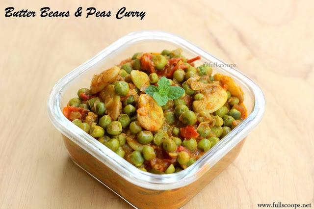 Butter Beans Peas Curry