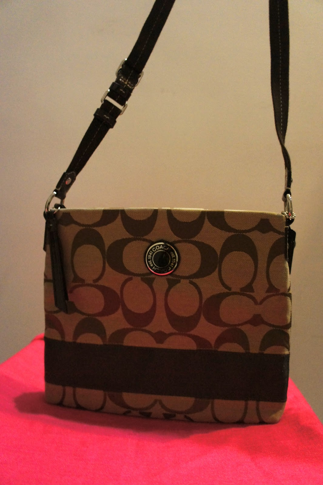 Queen's closet: Coach sling bag @ $240 - brown (SOLD)