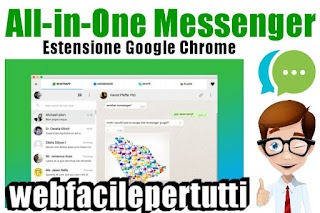 All-in-One Messenger - Estensione Per Google Chrome Che Permette Di Gestire 27 App Di Messaggistica Contemporaneamente